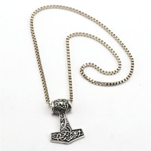 Buy HSIC 10pcs/lot Wholesale Thor Hammer Metal Alloy Vintage Pendant Box Chain Necklace Fashion Men Jewelry HC12240 for $21.59 in AliExpress store