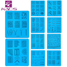 KADS Stamp nail art Stamping Image Stainless Steel Plates DIY Stamping Nail Art Tips Image Stamp Templates Polish Accessory Tool