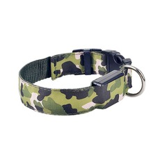 Safety Pets Dogs LED Collar Lighted up Nylon Camouflage Pattern LED Collar S M L XL