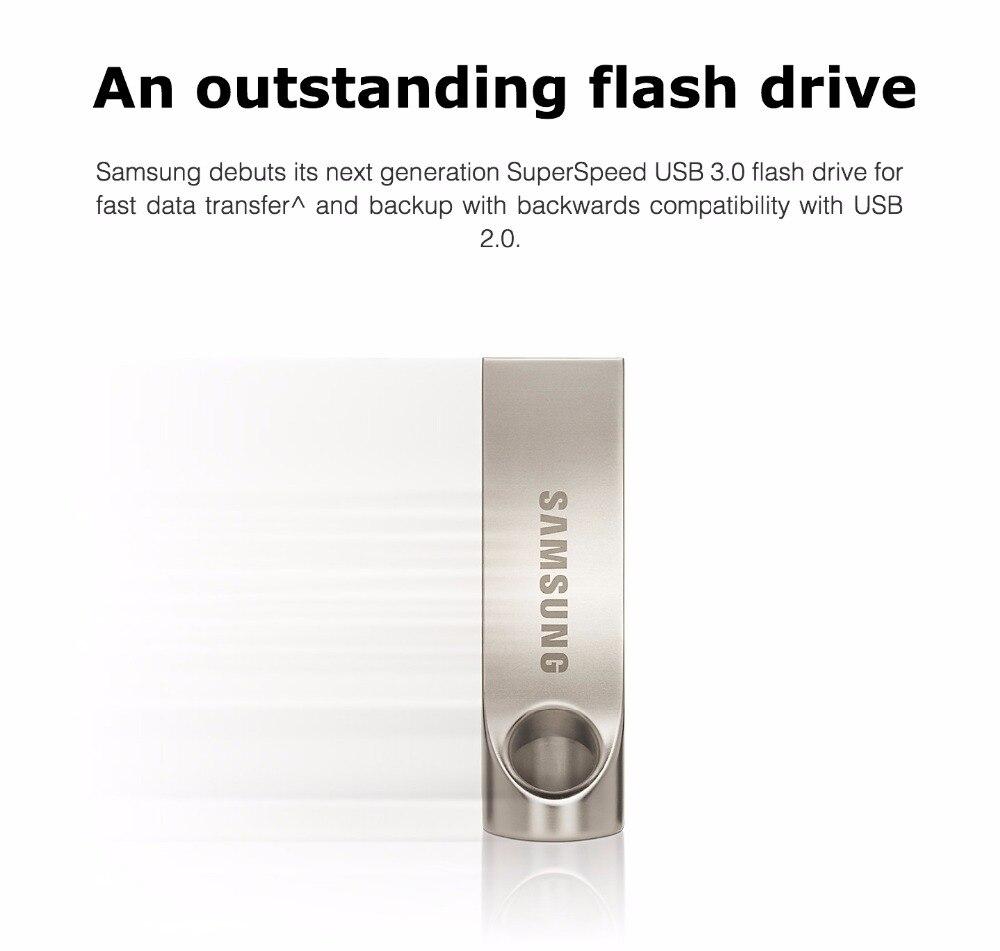 SAMSUNG USB Flash Drive Disk  32G 64G 128G USB 3.0 Metal Pen Drive mini Pendrive Memory Stick Storage Device U Disk