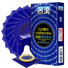 MingLiu 10 pcs condom for man,big spot Lubrication Natural Ultra thin Latex male Condoms,Adult product for couples(China)