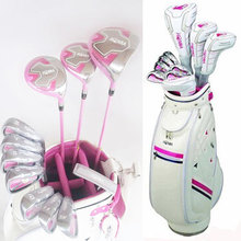 New womens Golf clubs U100 Golf complete set of clubs driver+fairway wood+irons+putter+bag Graphite Golf shaft Free shipping(China)