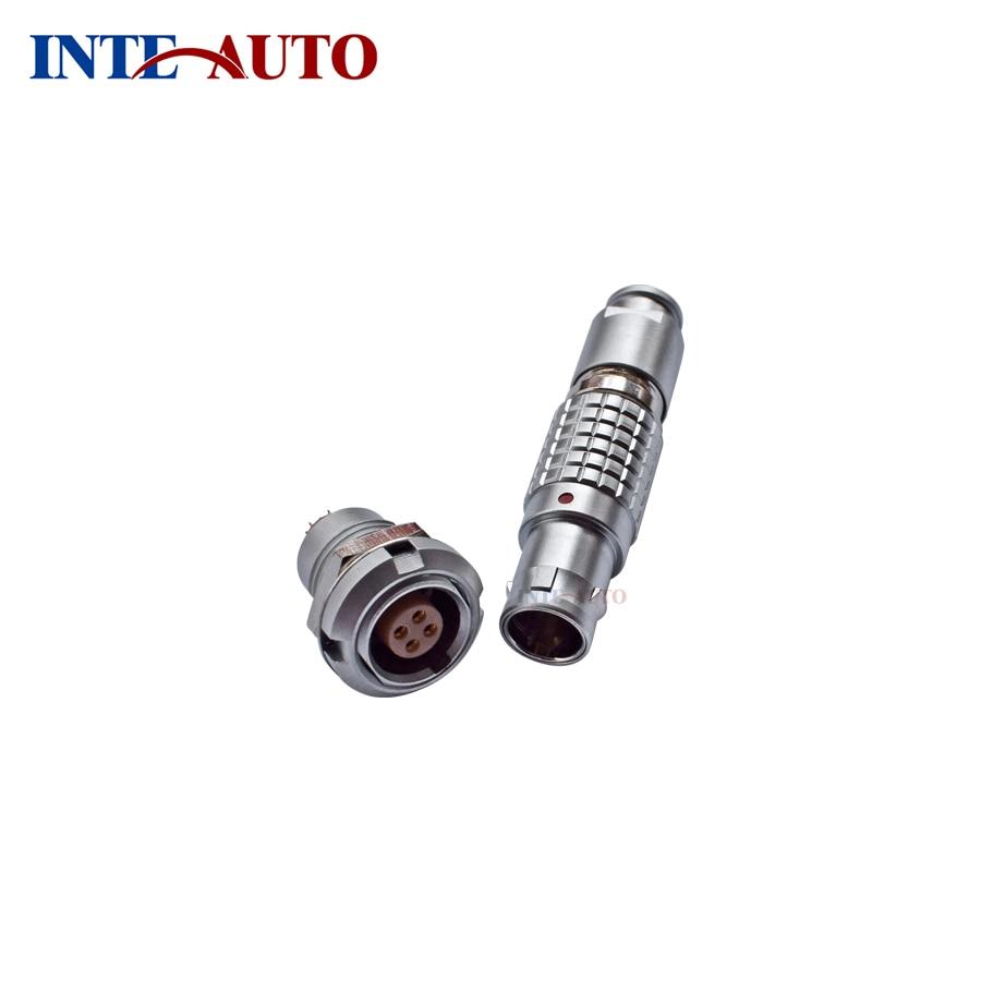 Solder pins connector - plug socket,1B M12, 4 way,circular push pull connector substitute LEMOs ODUs, FGG.1B.304 ECG.1B.304<br>