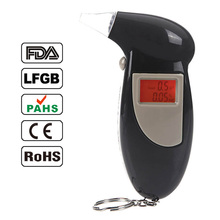 Backlit Display Digital LCD Breathalyzer Audible Alert Breath Alcohol Tester Alcohol Analyzer Test Tester Breathalyzer Detector(China)