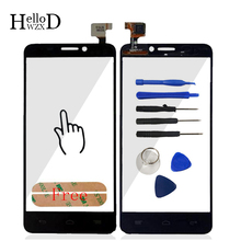 Front Touch Screen For Alcatel One Touch Idol S 6034 OT6034 6034R 6034Y Touch Glass Digitizer Panel Sensor Flex Cable Adhesive