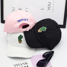 Spring Women's Cap Snapback Pink Cactus Embroidery Dad hat Men's Summer Baseball Caps Hip Hop hats For Girls Casquette Homme
