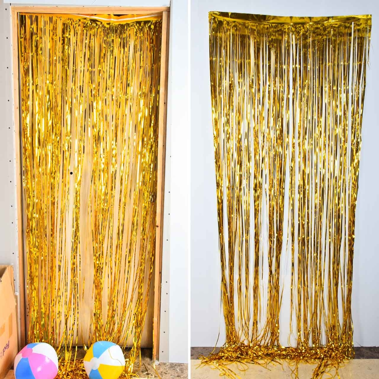 Gold Foil Fringe Tinsel Curtain Tel Garlands Wedding Photography Backdrop Birthday Party Decoration