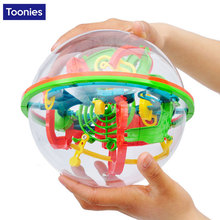 Preschool Educational Toys Original 3D Puzzle Ball Maze Brain Teaser Labyrinth Ball Toys Intellect Game Stages Kid Birthday Toy
