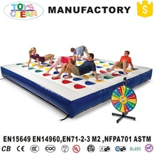 3D Inflatable Twister Game bouncer mat with sniper for family fun(China)