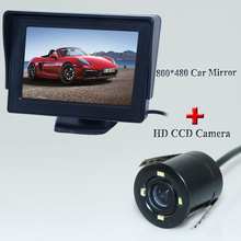 Factory Promotion 4.3 Inch Car Rear View Mirror Monitor Parking Monitor with Car Reverse Camera for All Models Of Cars