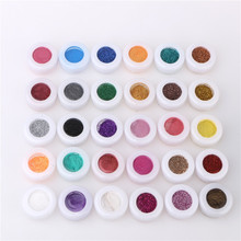30pcs Mixed Colors Glitter Eyeshadow Powder Pigment Mineral Spangle Makeup Cosmetic Set Long-lasting 2017 Random Color