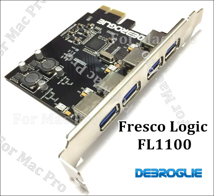 New USB3.0 PCI-Express 4 Ports Extended Card for MAC PRO Support OSX 10.8~10.12 MP 3.1-5.1<br>