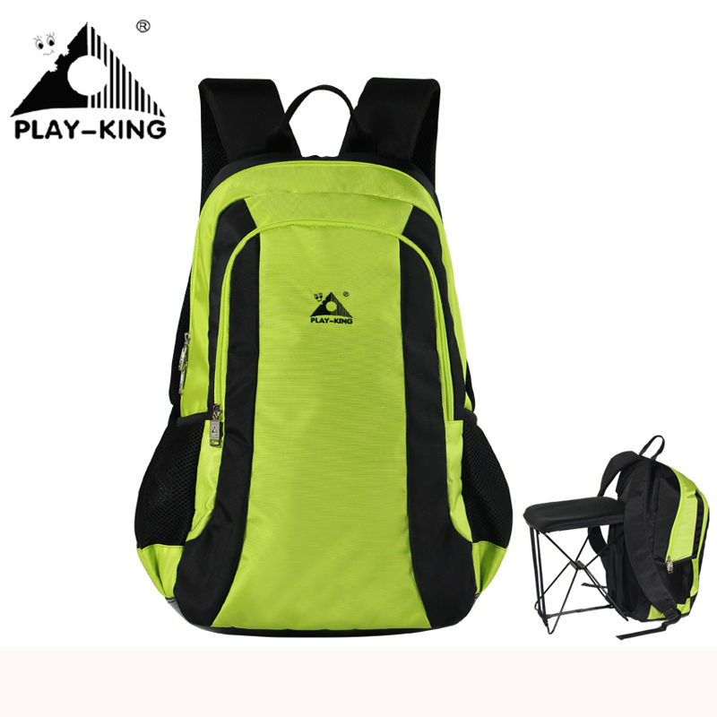 Outdoor Backpack PLAYKING Camping Hiking Travel Backpack Women Waterproof Hunting Fishing Backpack Folding Chair Men Sport Bag