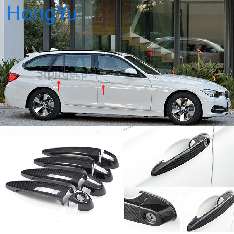 4 x DOOR HANDLE 100mm long CAR DECAL STICKERS ADHESIVE For BMW //////M