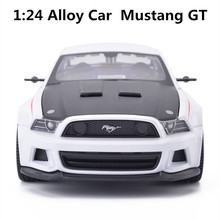 1:24 alloy car,Mustang GT  high simulation car model, metal diecasts, coasting, the children's toy vehicles, free shipping
