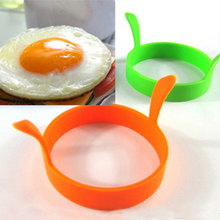 Hot 1 Pc Random Color DIY Round Breakfast Silicone Egg Molds Pancake Cooking Tools Kitchen Accessories(China)