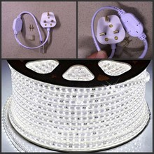 LED Strip 220V 240V IP67 Waterproof 5050 SMD tape Lights Rope Warm White Blue yellow green red + UK power plug