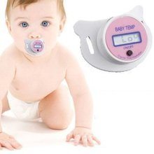 Free shipping 1 Piece New Digital LCD Pacifier Thermometer Baby Nipple Soft Safe Popular