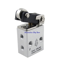 Pneumatic Air 2 Position 3 Way Single Direction Roller Actuator Mechanical Valve S3R-M5(China)