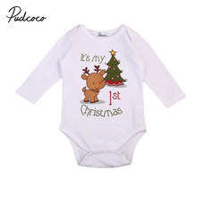 6e9c08a44e3 christmas baby romper newborn infant baby boys girls cartoon deer Christmas  tree print long sleeves romper autumn baby clothing
