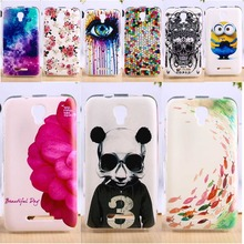 Soft TPU Phone Cover For Alcatel OneTouch Pixi First 4024 Cases Anti-Knock DIY Painted Cell Phone Housings