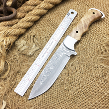 Full Tang Damascus Steel Tactical Fixed Blade Knife,Collection Damascus Hunting Knife,EDC Straight Knives,Camping Knives Tools