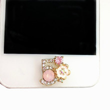 beautiful diamond Phone home button sticker for iPhone 4 4s 5 5c 5s 6 6s 6 plus