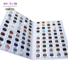 1 set NATURAL Semi-Precious Stone Samples Natural Square Stone Beads For Jewelers Specimen Collection(China)