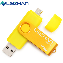 LEIZHAN USB Flash Drive USB 2.0 Pen Drive Smartphone Pendrive Flash Memoria USB Stick OTG Micro USB Portable Storage Flash drive