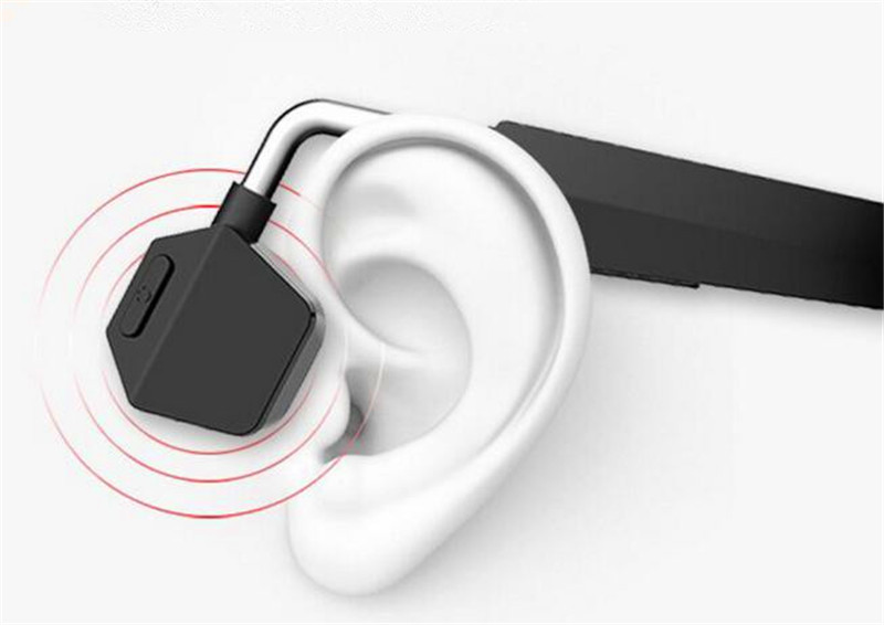 freehand bone conduction wireless over-ear hifi stereo headphones with microphone 4g memory mp3 player active noise canceling