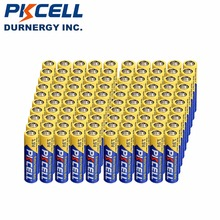100pcs/lot PKCELL 1.5V Extra Heavy Duty Battery AAA R03P R03 UM-4 AAA Carbon-Zinc Primary Battery For Radio Remote Control Clock(China)