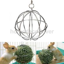 Stainless Steel Feed Hanging Ball Toy Sphere Pet Treat For Guinea Pig Hamster Rat Rabbit Chinchillas Feed Dispenser 13cm
