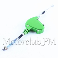 CNC Universal Stunt Clutch Easy Pull Cable System Motorcycles Dirt Bike For Honda Yamaha Suzuki Kawasaki Aluminum Green
