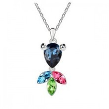 Top Quality Colorful Austrian Crystal jewelry fashion pendant Goldfish Necklace female models gift -  B122