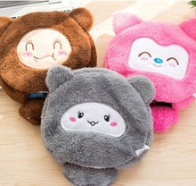 Cute cartoon pad mat  warm in winter USB heated mouse pad with wrist, hand warmers heating pad