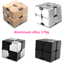 Buy 2017 Luxury Fidget Cube Metal Infinity Cube Stress Relief Fidget Anti Anxiety Stress Funny EDC Toy Decompression Finger Gift for $4.79 in AliExpress store