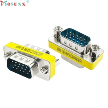 15 Pin VGA SVGA HD15 Gender Changer Coupler Adapter Converter Male to Male drop shipping 0720