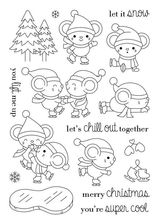 cute mouse ice skating stamp Clear Stamp for Scrapbooking Transparent Silicone Rubber DIY Photo Album Decor(China)