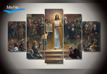 Framed Printed Classic paintings jesus returns to earth Group Painting decor print poster picture canvas Free shipping/wo-318