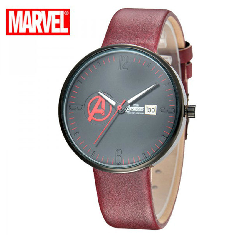 Fashion Men Watch Top Brand Luxury Disney 2017 Sport Casual Simple Leather Strap 6 Style Military Army Quartz Wristwatches<br>