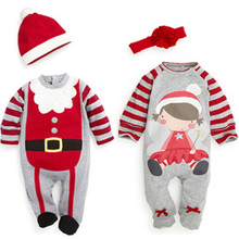 Nice Christmas Costume Pajamas Children Christmas Clothing Casual roupas infantis menina Home Wear Boy Girl Santa Claus Clothing