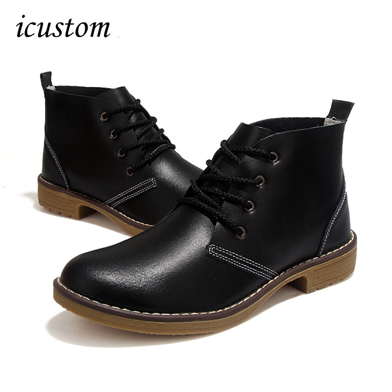 2017 Spring Womens Motorcycle Ankle Boots Genuine Leather Casual Shoes For Ladies Military Botas Vintage Lace Up Shoes Z577<br><br>Aliexpress