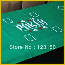 ZB-006 Non-woven fabric Texas Holdem Table Cloth for 8 persons, green felt 90*180CM(China)