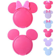 Wholesale Newborn Baby Wet Wipes Cover Cute/ Reusable Flip Lid for Wet Paper Hot Baby wipes cap Box Pink Cute Mouse Box