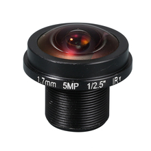 HD  Fisheye  cctv lens 5MP 1.7MM M12*0.5  Mount 1/2.5  F2.0  180 degree for security CCTV cameras