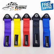Free Shipping Universal New Tow Strap High Quality Racing Car Tow Straps / Tow Ropes / Hook / Towing Bars With Logo(China)
