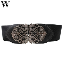 Amazing New Alloy Flower Vintage Belt For Women Lady Wide Elastic Belt Waistband for Fashion Apparel Accessories(China)