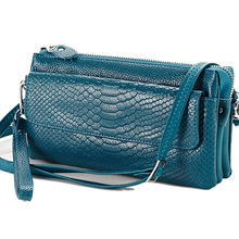 Fashionable Ladies Hand Bag Leather Bag Ladies Diagonal Multilayer Snake Clutch With The Tide