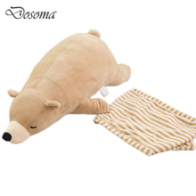 50 cm Cute Kids Stuffed Polar Bear Animal Toy Dolls Cushion Super Soft Polar Bear Plush Pluches Toys Animal Children Gifts