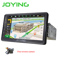 JOYING 1din Android 6.0 car radio 7'' HD touch screen GPS system FM TV receiver car head unit with free rear view camera reverse